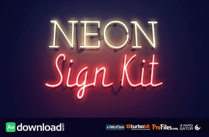 neon sign kit Archives - Free After Effects Template - Videohive ...