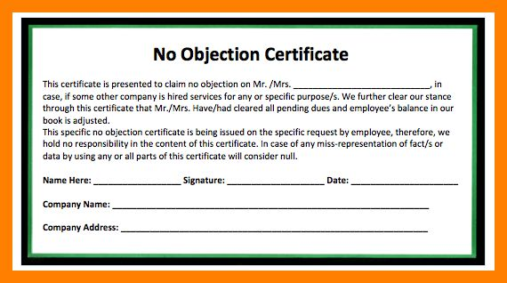 6+ no objection certificate format for job | pattern resume