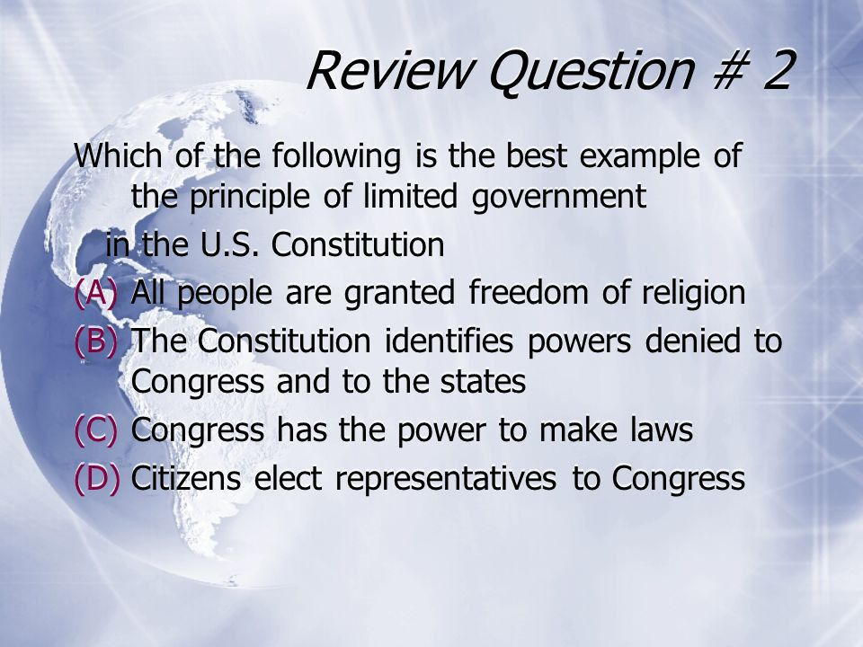 Principles of the United States Constitution - ppt download