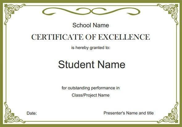Free Certificate Templates | peerpex