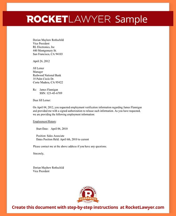 4+ employment verification letter template microsoft | Life ...