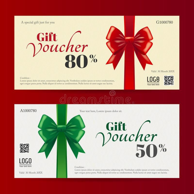 Elegant Christmas Gift Card Or Gift Voucher Template Stock Vector ...