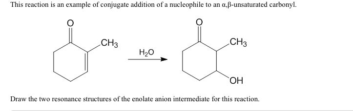 Draw The Two Resonance Structures Of The Enolate A...   Chegg.com