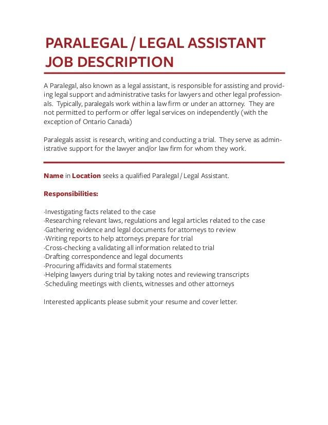 legal assistant job description. choose. job description job title ...