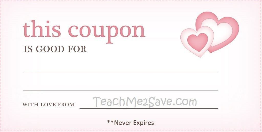 Valentine Day blank coupon template Example : Helloalive