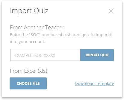 Use the Excel Quiz Import Template – Socrative Help Center