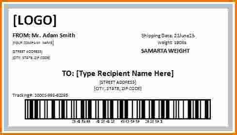 4 shipping label template | Divorce Document