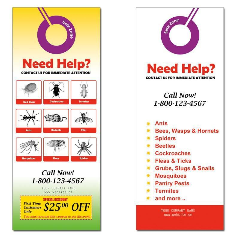 Door Hanger | Custom Door Hangers Designs, Templates, Samples ...