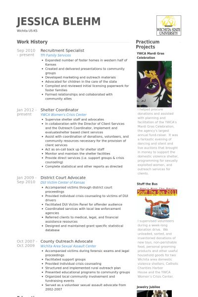 Recruitment Specialist Resume samples - VisualCV resume samples ...