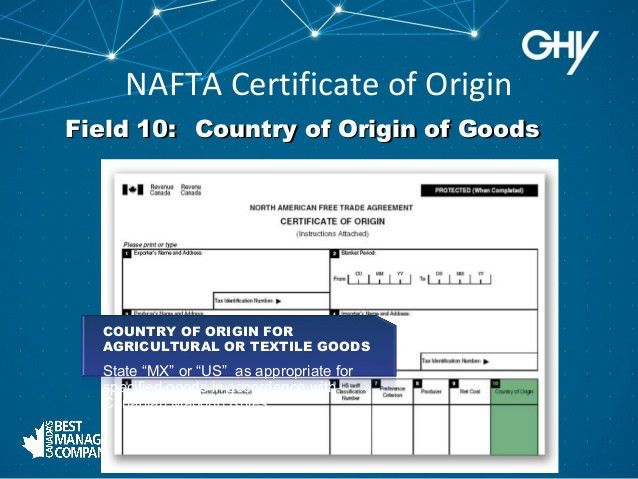 How To Fill out a NAFTA - The Fundamentals