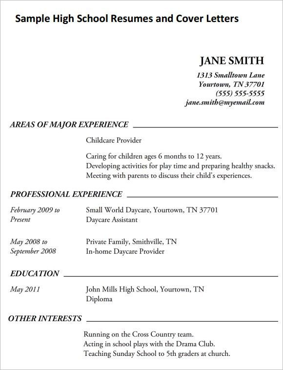 resume template high school student academic. samples of high ...