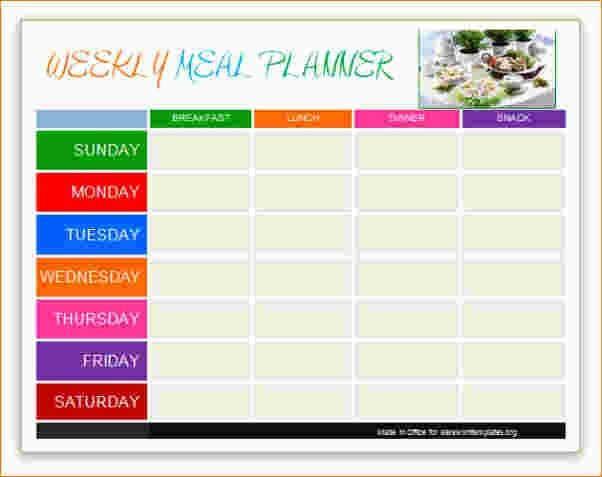 5+ weekly planner template word | Ganttchart Template