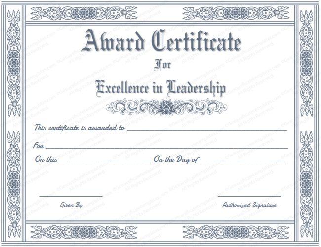 Free Certificate Maker : 43 Formal and Informal Editable ...