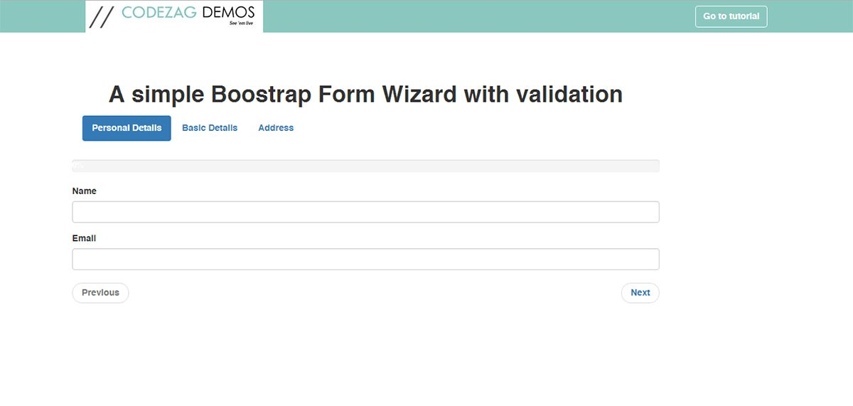 How To Create Bootstrap Form Wizard With Validation