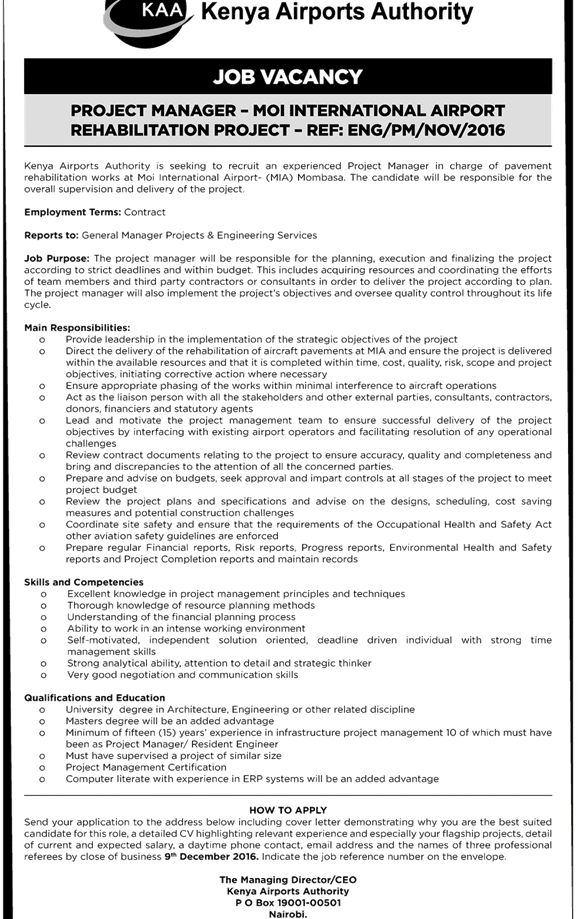 Jobs in Kenya: 15 Job Vacancies Advertised in The Daily Nation ...