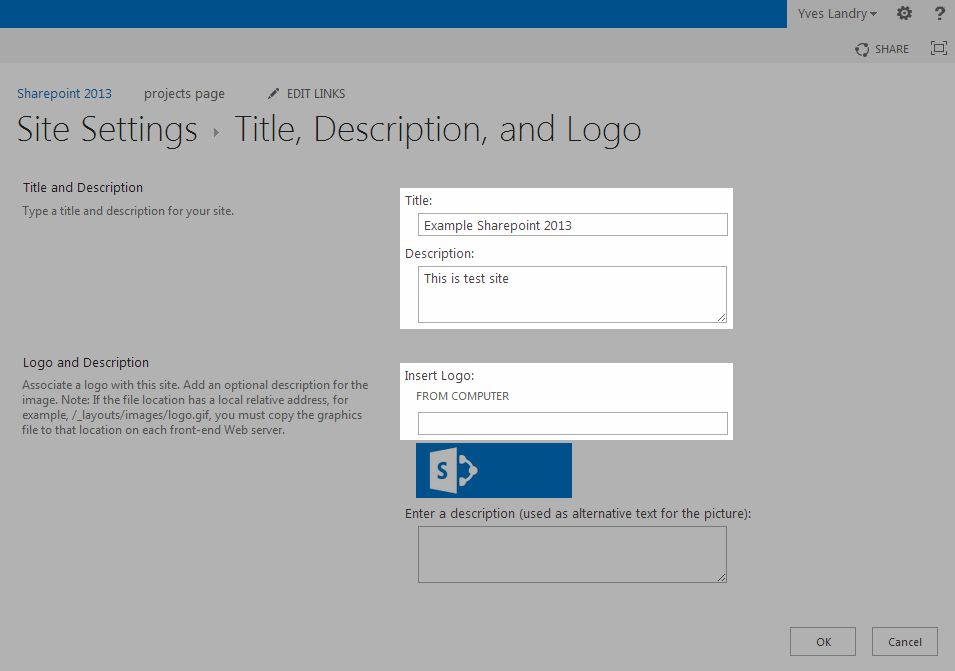 How to change the Title and logo of a SharePoint 2013 site ...