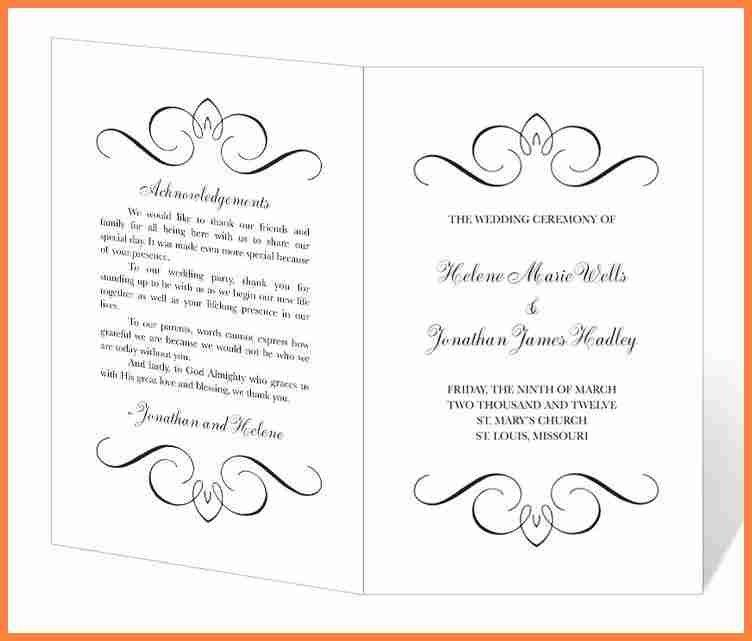 8+ free printable wedding program templates word | Invoice Example ...