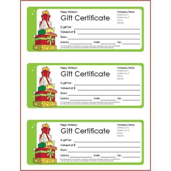 Massage Gift Certificate Template Free Printable Best And 70 ...