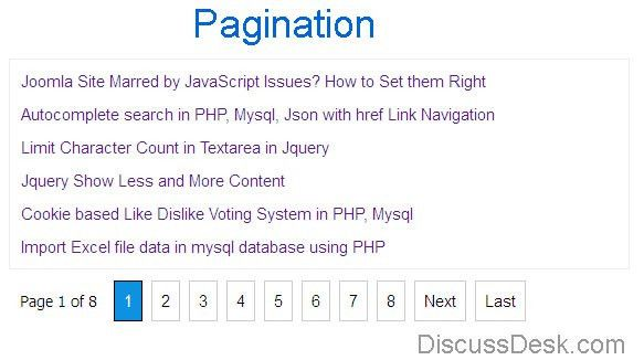 Download Pagination in PHP and MySql With Example