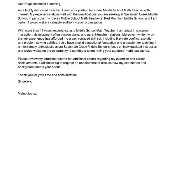 Classy Inspiration Education Cover Letter Examples 3 Best Teacher ...