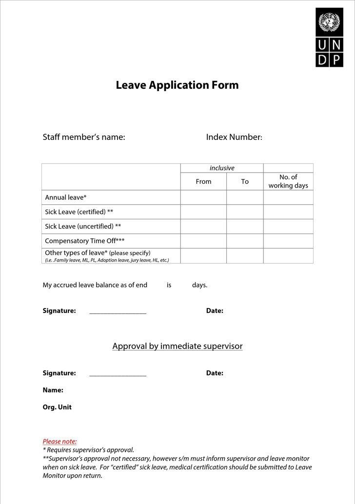 Annual Leave Application Form [Template.billybullock.us ]