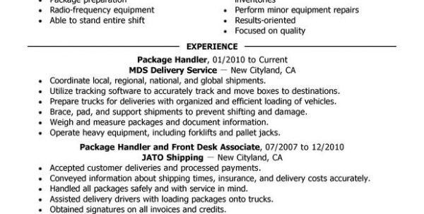 Package Handler Job Duties Ups Package Handler Job Description ...