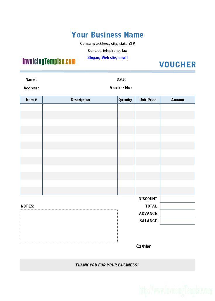 Excel Payment Voucher Template