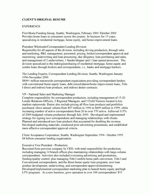 Sample Executive Resumes – Resumeedge.com