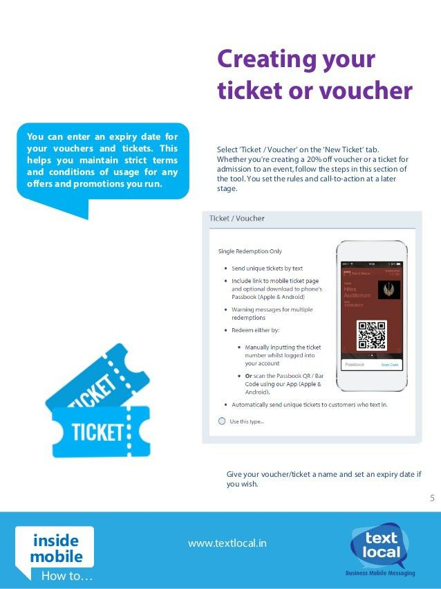 Create mobile tickets, vouchers and much more!