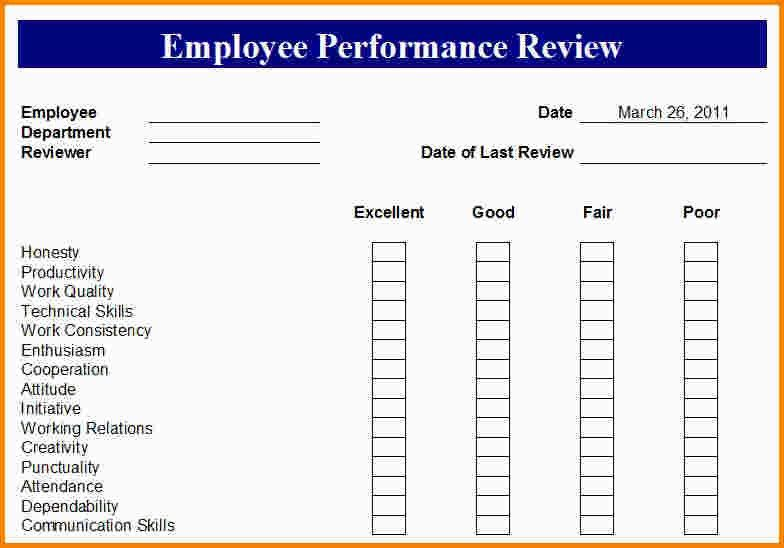 6+ employee evaluation form template | nypd resume