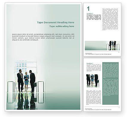 Corporate Word Template 02647 | PoweredTemplate.com