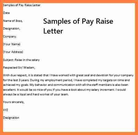 How To Write A Salary Increase Letter An Employer | Mytemplate.co