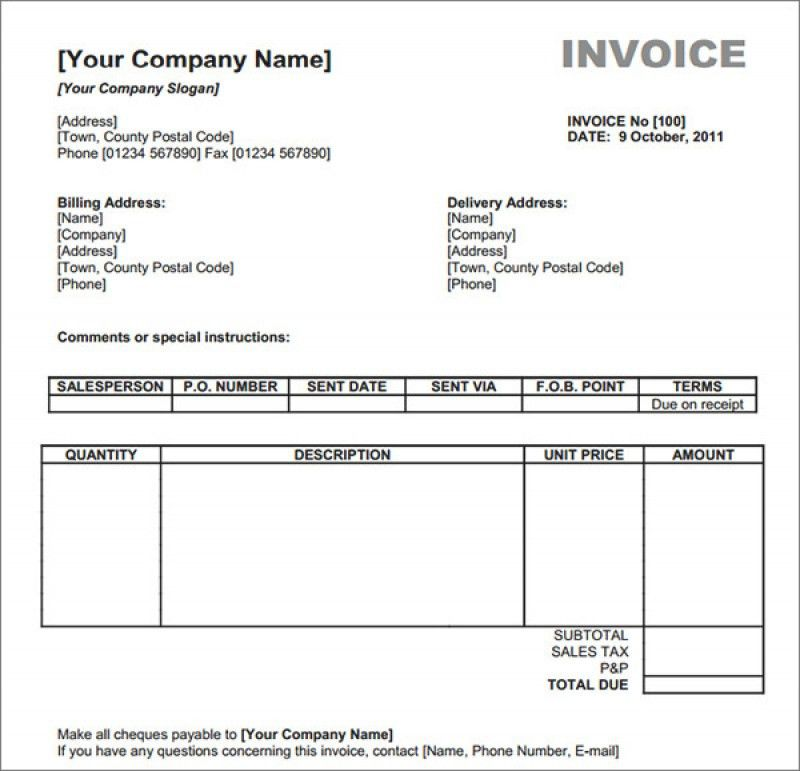 Us Customs Invoice Template | rabitah.net