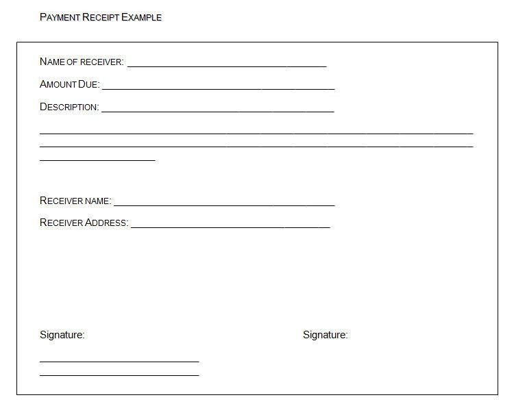 How To Make A Receipt Of Payment Form With Microsoft Word : Vlcpeque