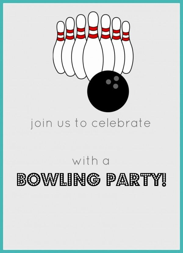 Bowling Birthday Party FREE Invitation & Party Printables - Jolly Mom