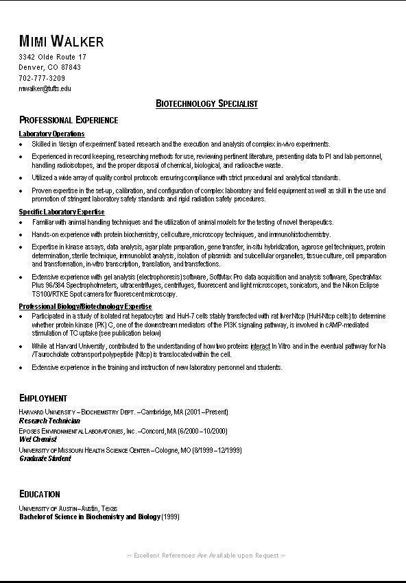 Example Of A Good Resume. Examples Of A Good Resume Template ...