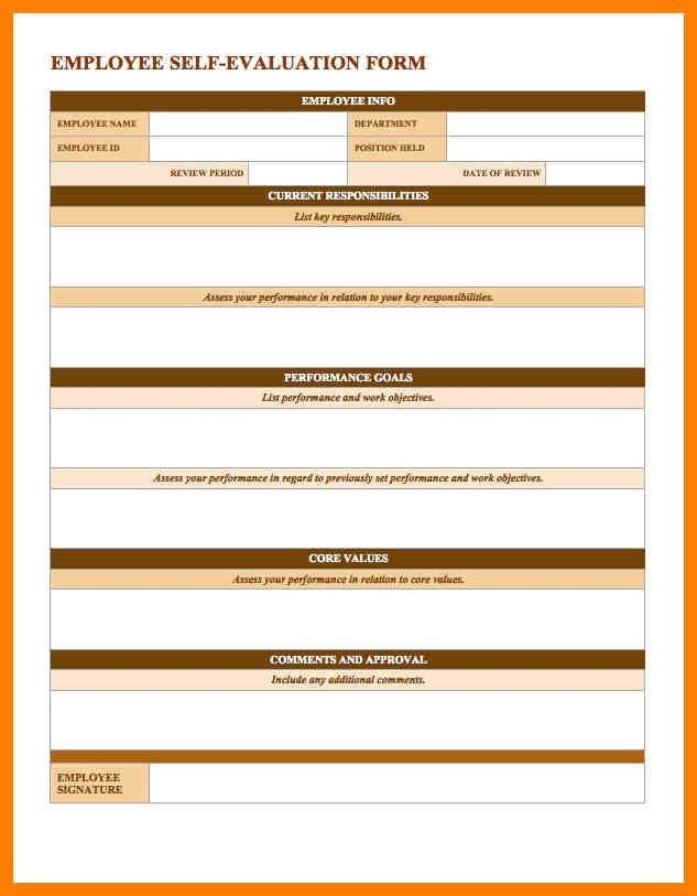 8+ employee performance appraisal form template | joblettered