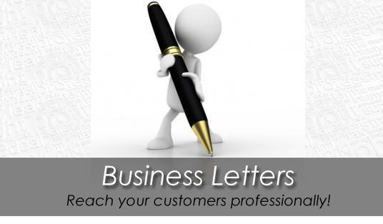Write a professional business or sales letter for your company ...