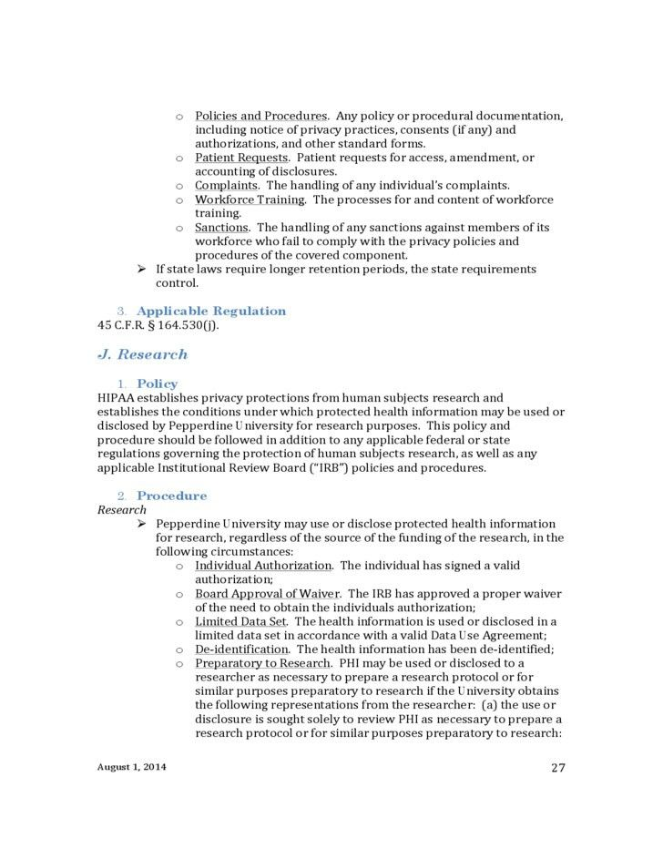 Hipaa Policies And Procedures Templates | Template Idea