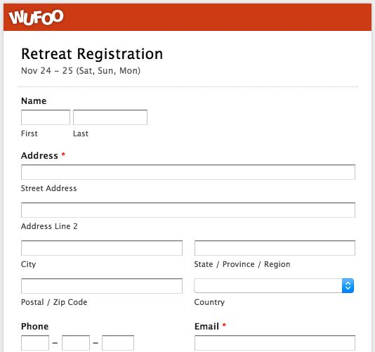 Wufoo Blog · Top 5 Event Registration Form Templates!