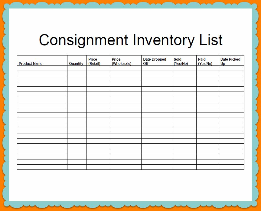 6+ inventory list template | Outline Templates