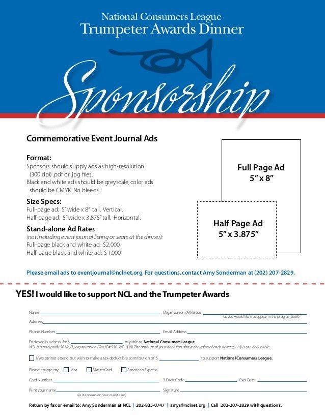 NCL trumpeter awards: sponsorship form