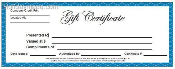 Sample Gift Certificate. Here Are Some Sample Gift Certificates ...