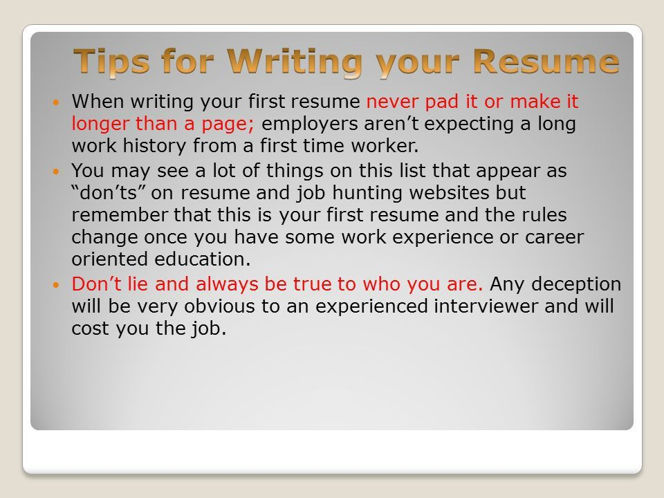 Resumes Making the first Impression!. A resume can make or break ...