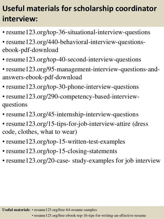 Top 8 scholarship coordinator resume samples