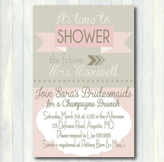 Bridal Shower Brunch Invitations | badbrya.com