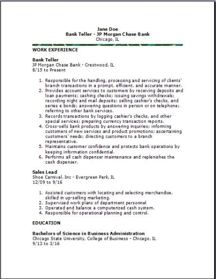 cover letter bank teller cover letter job and resume template no ...