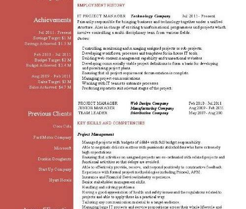 program manager resumes