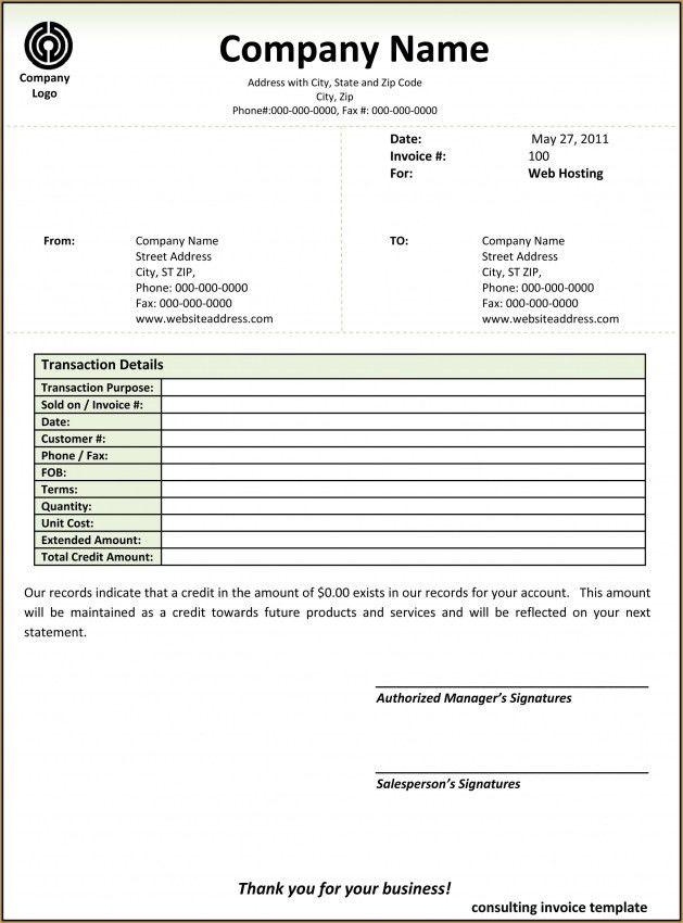 Invoice Template Consultant Word | Design Invoice Template
