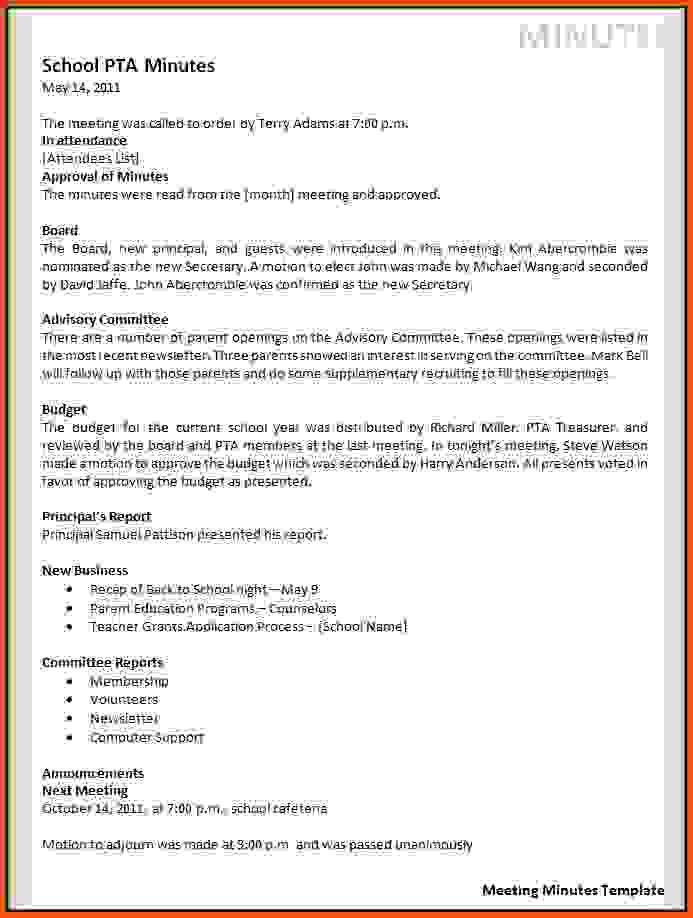Meeting Minutes Sample.sample Sales Meeting Minutes Template.png ...